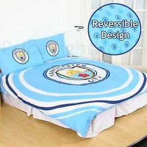 Officiel-Manchester-City-FC-Impulsion-Double-Couverture-Ensemble-Enfants-Adultes