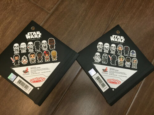 """Hot Toys Star Wars The Force Awakens Cosbaby 3/"""" sticker Set x 2"""