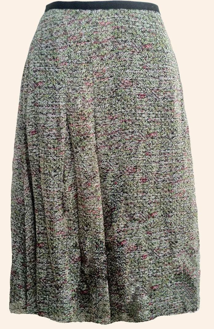245 DKNY women Karan Silk Camilla Print Skirt 6