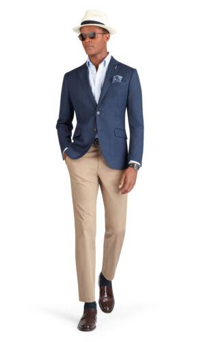 T.M.Lewin Mens Ferriano Jacket in Blue Herringbone Lanificio Campore Wool