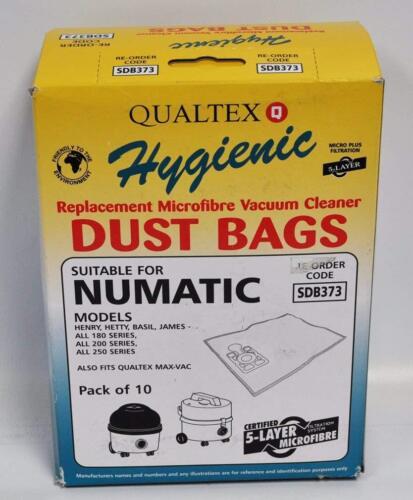 SDB373 Numatic  USASD373 QuickClean Large Microfiber Bags 10PK