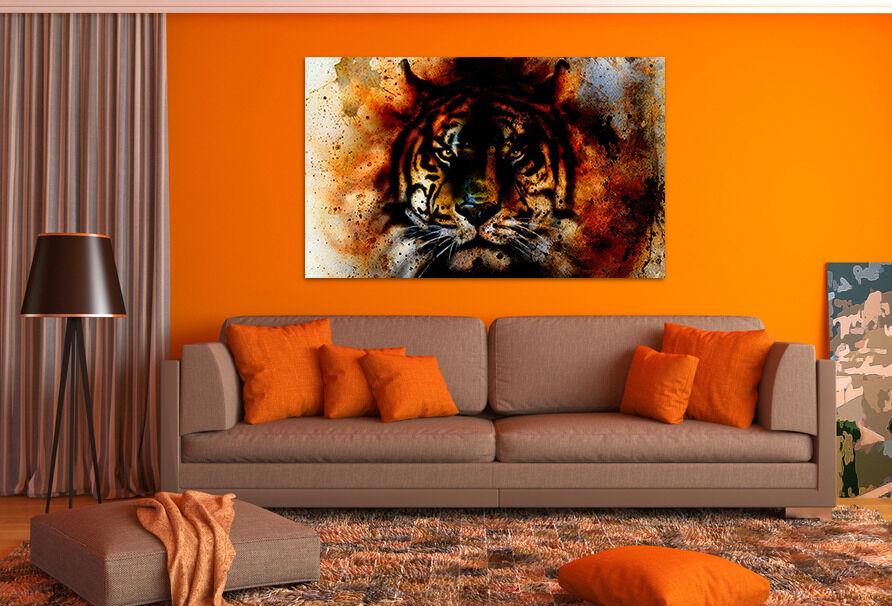 3D Wilde Tiger 53 Fototapeten Wandbild BildTapete AJSTORE DE Lemon