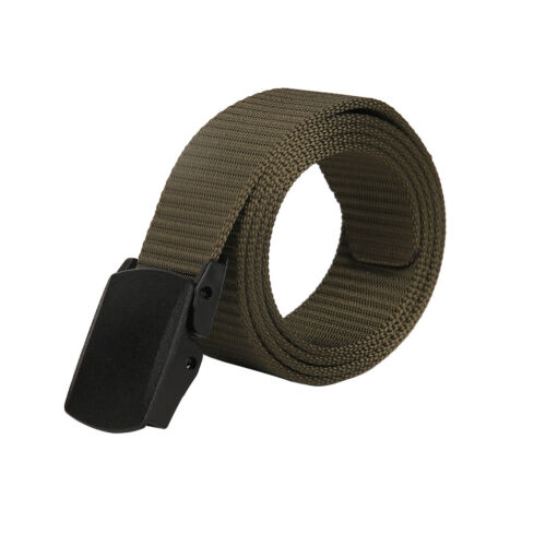 Casual Military Grade Polymer Buckle Nylon Woven Buckle Belt Adjustable