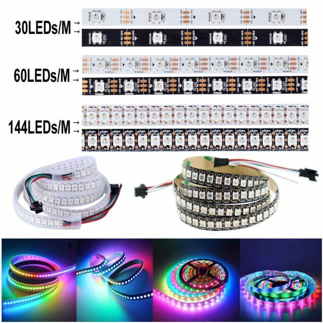 1m 60 RGB LED tira con ws2812b 5050 SMD LED ws2812 60 LED//m