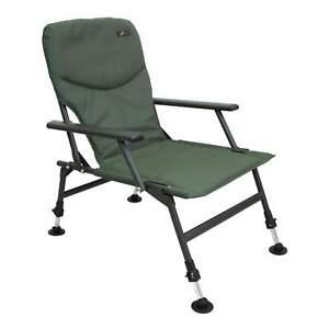 Karpfenstuhl Steel Arm Chair Angelstuhl mit Armlehnen Outdoor Camping Stuhl