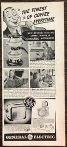 ORIGINAL-1940-General-Electric-Completely-Automatic-Coffee-Maker-Print-Ad