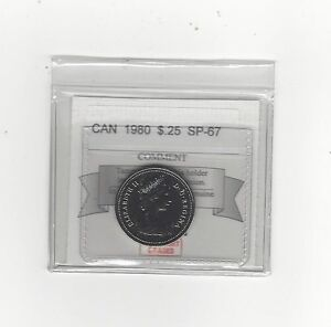 1980-Coin-Mart-Graded-Canadian-25-Cent-SP-67