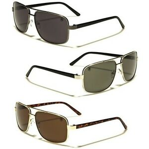 3f16e25a999 Details about Square Retro 80s Aviator Sunglasses Khan Mens Womens Fashion  Glasses Black Gold