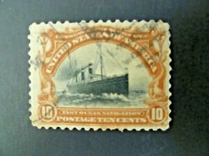 USA 1901 $.10 #299 Pan-American Issue Used Fine - See Description & Images