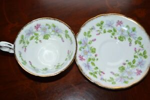 ROYAL-STAFFORD-BONE-CHINA-ENGLAND-COLORADO-COLUMBINE-FOOTED-CUP-amp-SAUCER