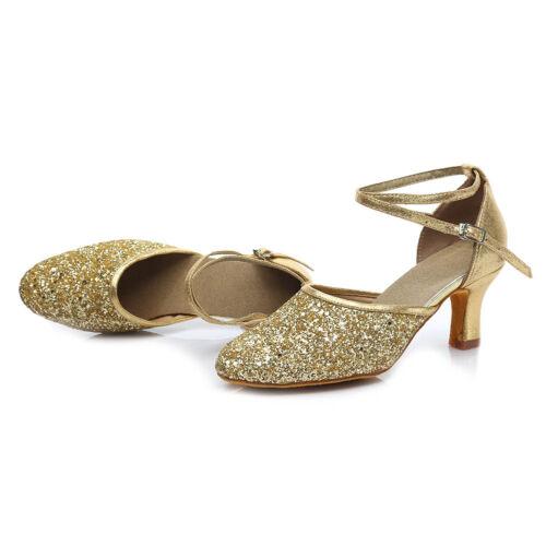 Femmes Fille Lady/'s Ballroom Tango Danse Moderne Danse Chaussures à talon Salsa 1802-5