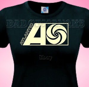 ATLANTIC-RECORDs-NEW-Retro-Northern-Soul-Ladies-Cotton-Uk-SIZE-6-To-16-T-Shirt
