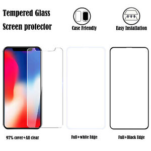 For iPhone/Samsung/LG/Motorola Phone Tempered Glass Screen Protector Film Clear