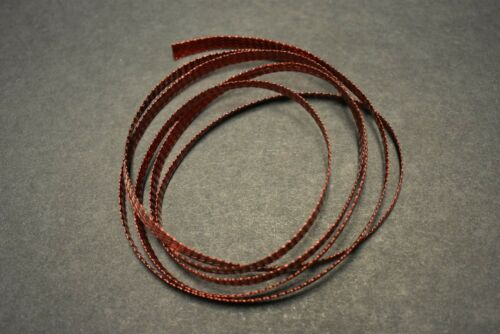 """No Cottony Insert 1 Yard 3//16/"""" FLAT RED Mylar Tubing Piping for Fly Tying"""