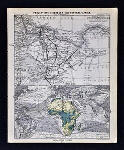 1877-Petermann-Mittheilungen-Map-Africa-Railroad-Tripoli-Libya-Sabha-Murzuq-Tsad