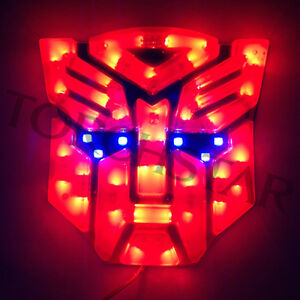 details about high light led transformers autobots auto emblem red