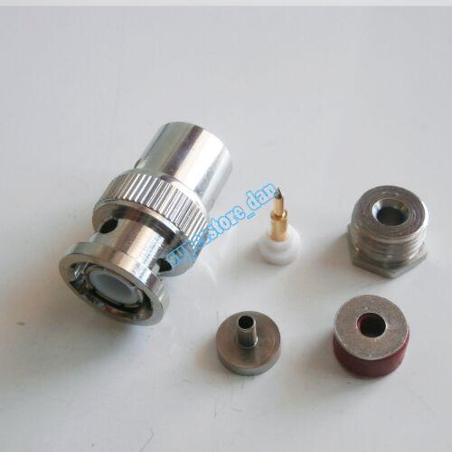 10x BNC Male Clamp RG316 RG174 RG179 LMR100 Cable RF Coax Connector