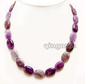 SALE-Big-13-18mm-Oval-Purple-Natural-Amethyst-17-034-necklace-5535-free-shipping