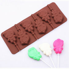 Girls Lollipop Silicone Cake Decor Mold Candy Cookies Chocolate Bake Mold DIY