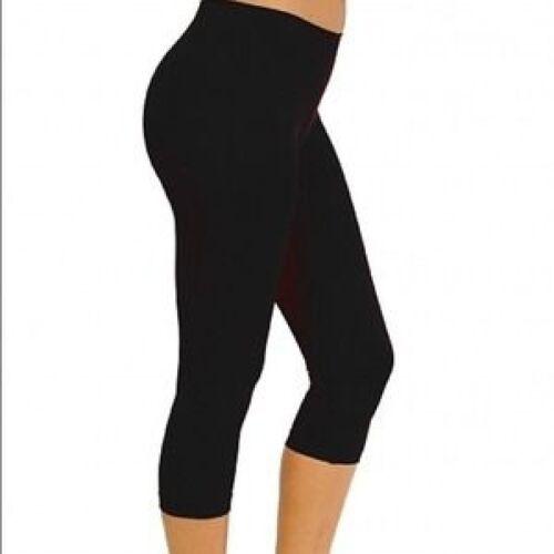 Cotton Spandex Women Capris Leggings Pants Size S 5XL 30 Colors Made in USA