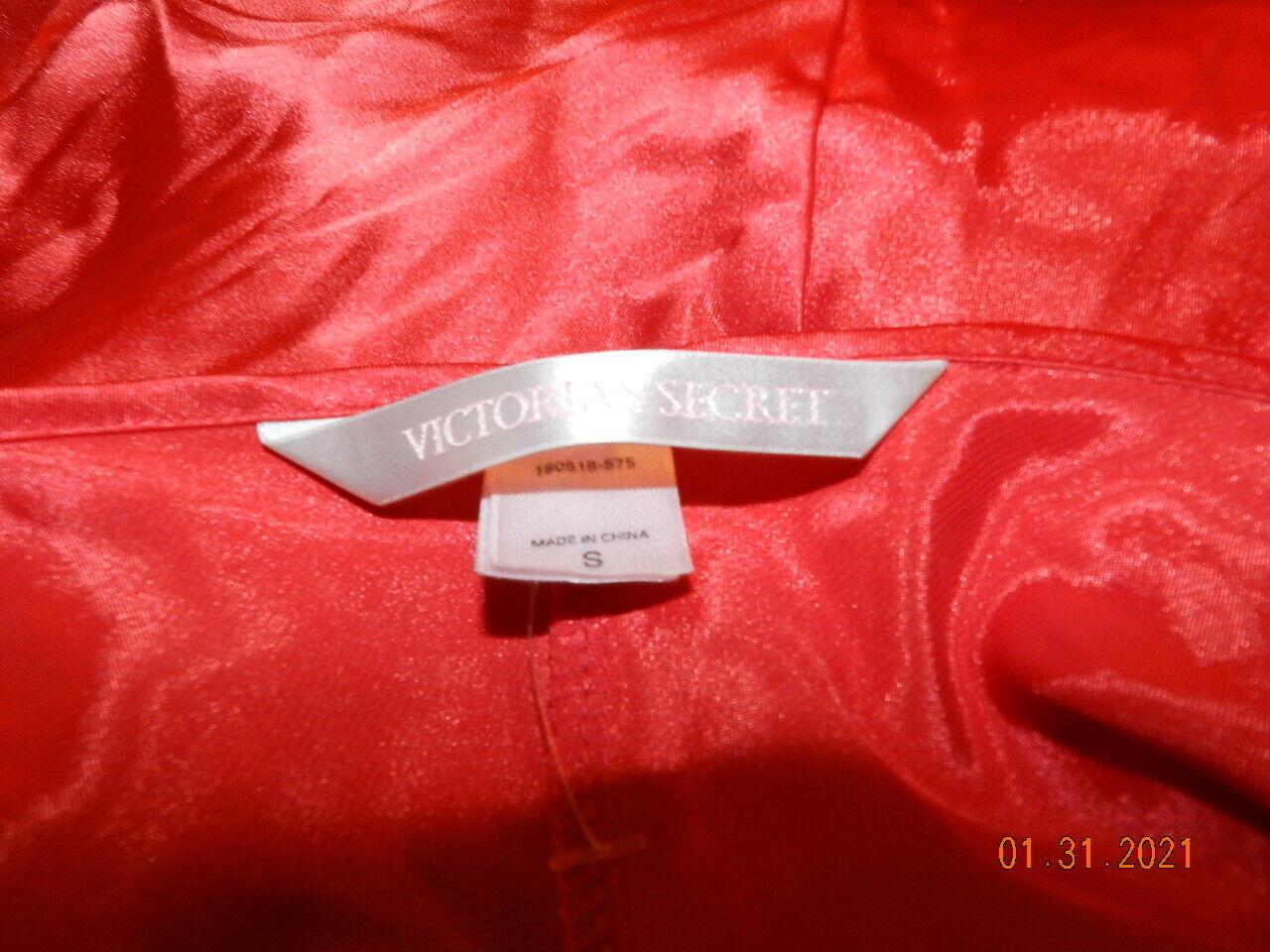 Victorias Secret Nightgown Red Silk Chemise Sz S … - image 3