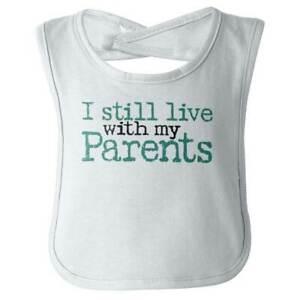 New Mom Dad Parents Cute Funny Shower Gift Newborn Baby Boy Girl Drooler Bibs
