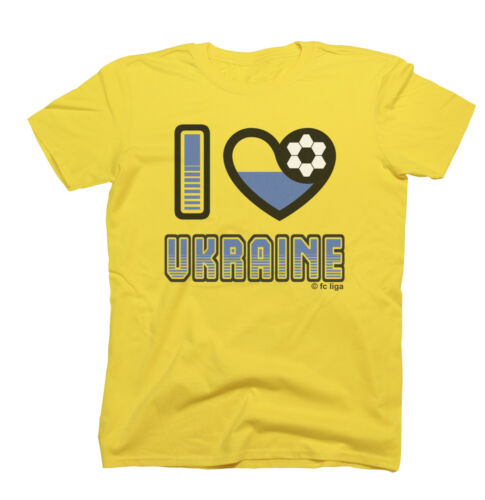I LOVE UKRAINE Football T-Shirt New *Choice Of MENS LADIES KIDS*