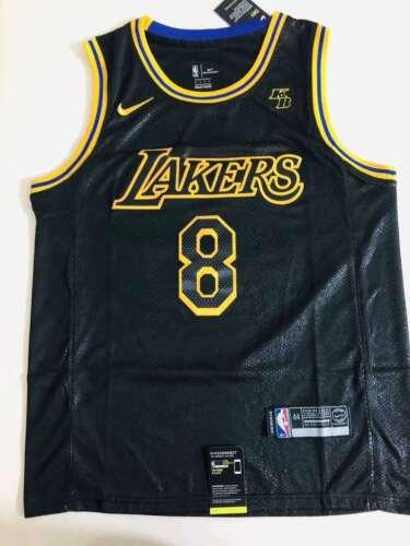 KobeNBA Los Angeles Bryant Lakers Jersey Black Mamba size-s-xxl