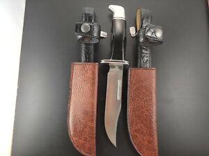 Faux Pebbled Leather Buck 119 Knife Sheath Vegan Leather Handmade Brown New Nwot Ebay