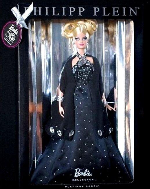 Philipp PLEIN Diseñador Vestido Muñeca Barbie Collector Platinum Label Nuevo Como Nuevo Raro
