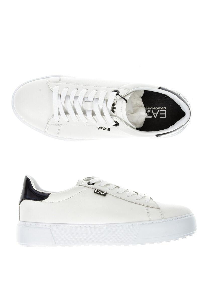 Emporio Armani EA7 shoes Sneaker Leather Man White 2480057A299 10 NWT