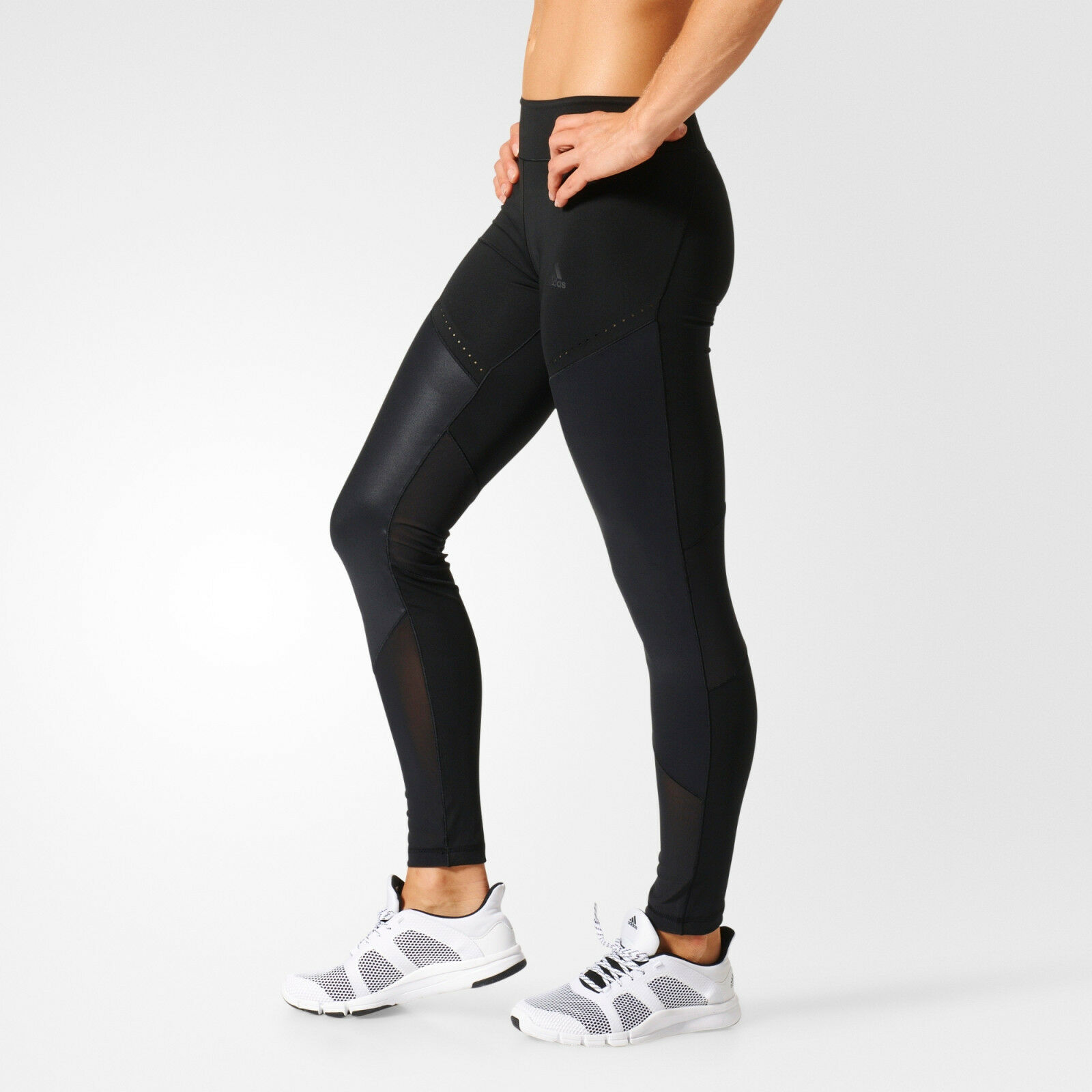 Damen Adidas Schwarze Leggings Adidas Climalite Wow Drop 1 BQ2126 NEU