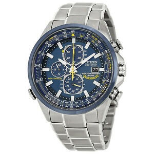 Citizen Mens AT8020 54L Blue Angels Stainless Steel Eco Drive Dress Watch /1622928