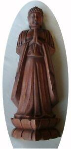 Tibetan-handcrafted-Suar-Oakwood-039-Standing-Buddha-039-H-41-cm-end-19th-Century