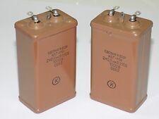 2x KBG-MH ( 2x0.5uF 10%, 1000V ) Ceramic PIO Capacitors КБГ-МХ NOS Made in USSR