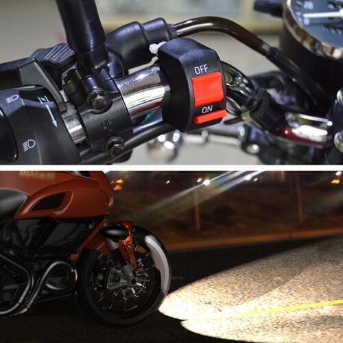 2PCS 30W 3000LM 6000K 12 LED White Motorcycle ATV Headlight Fog Lights w// Switch