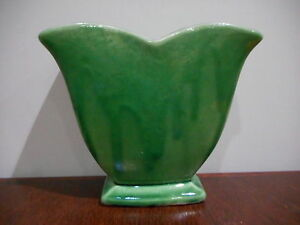 Collectible Vintage Mccoy 1940s 1950s Small Green Drip Planter Glazed Vase Ebay