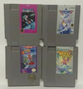 Nintendo-NES-Game-Lot-Tested-Authentic-Mag-Max-Top-Gun-Yo-Noid-Bayou-Billy