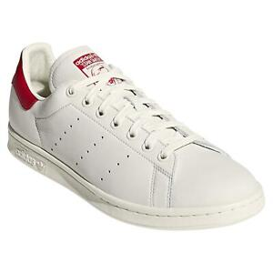 adidas-ORIGINALS-STAN-SMITH-TRAINERS-CHALK-WHITE-RED-SNEAKERS-SHOES-RETRO-TENNIS