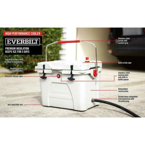 20-Quart High-Performance Cooler with Lockable Lid in Marine White Outdoor Boats