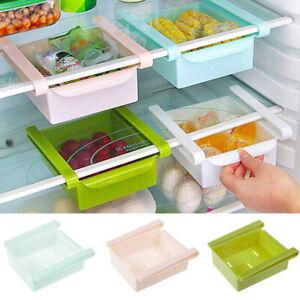 Slide-Kitchen-Freezer-Fridge-Space-Saver-Storage-Box-Organizer-Holder-Shelf-Rack