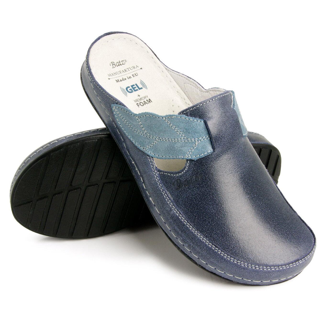 Batz NLK Blau damen Leather Slip On Mules Clogs, EU 39, UK 5.5