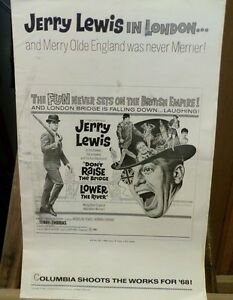 1968-Dont-Raise-The-Bridge-Lower-the-River-Pressbook-Jerry-Lewis