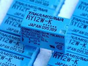 TAKAMISAWA-RY12W-K-12V-DPDT-Signal-Relay-For-Audio-x4