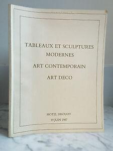 Catalogue Di Vendita Lavagna E Sculture Moderno Arte Art deco1987