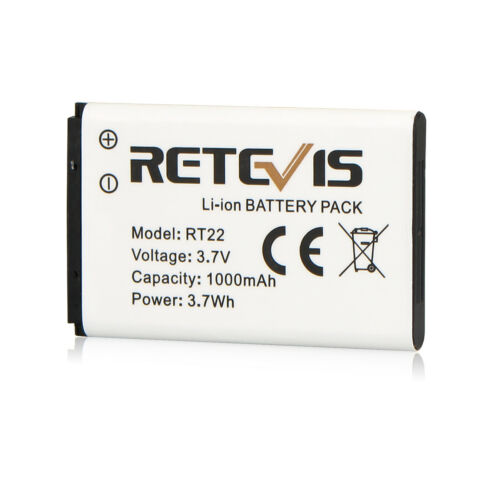 Original Retevis RT22//WLN KD-C1 2Way Radio Li-ion Battery Pack 3.7V 1000mAh US
