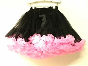 Oopsy Daisy Baby New Girls Black Pettiskirt W/ Hot Pink Sz $79 R180 Utmost In Convenience 4-6 Rtl