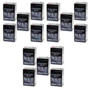 15PK 6V 4.5AH Sealed Lead Acid Home Alarm Security System Battery Replace PC4.56