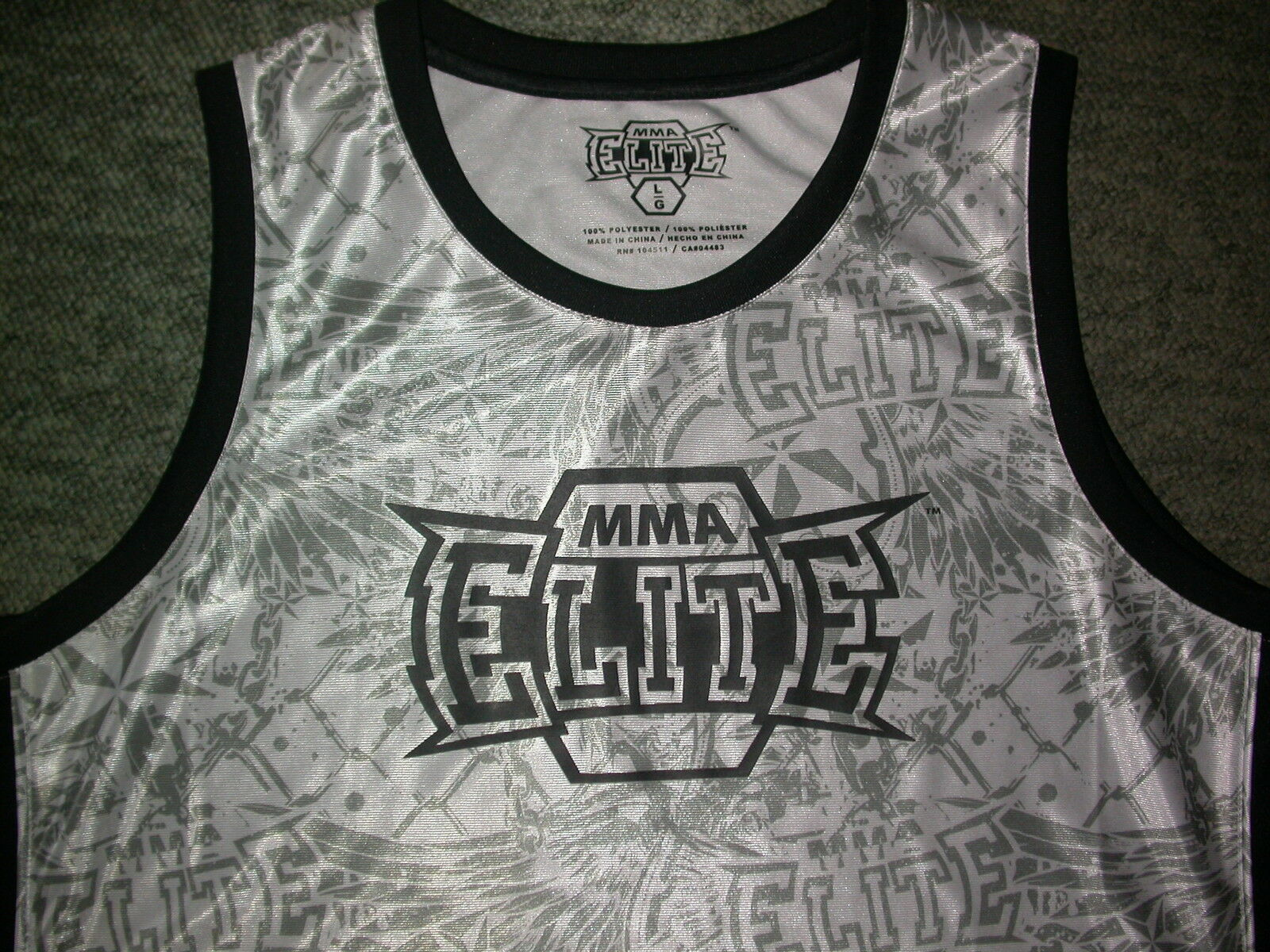 MMA ELITE BASKETBALL JERSEY SHIRT VEST TOP LARGE L . UFC BJJ MUAY THAI GYM NEW