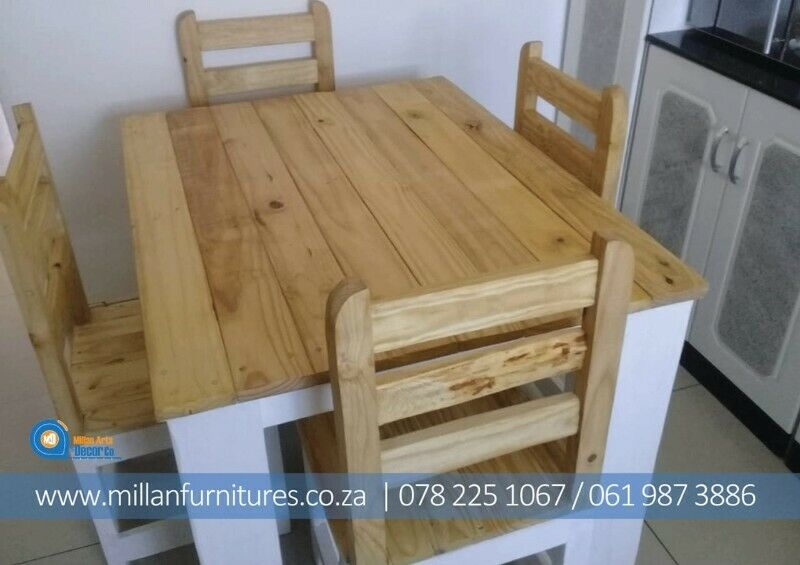 CHAMPIONS WOODEN DINNING TABLES AND CHAIRS .